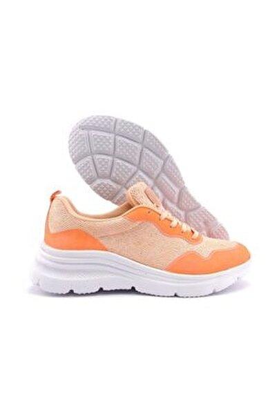 Kadın Günlük Ayakkabı - Pudra Simli 2054