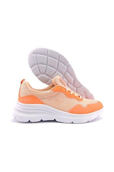 LETOON Kadın Günlük Ayakkabı - Pudra Simli 2054