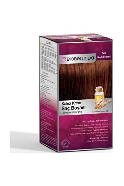 BioBellinda Bl204 - Kalıcı Krem Saç Boyası 5.6 Sıcak Çikolata