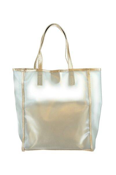 Housebags Altın Kadın Plaj Çantası
