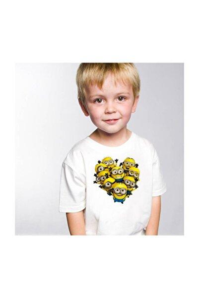 SCUBAPROMO Minion Love Beyaz Erkek Çocuk Tişört