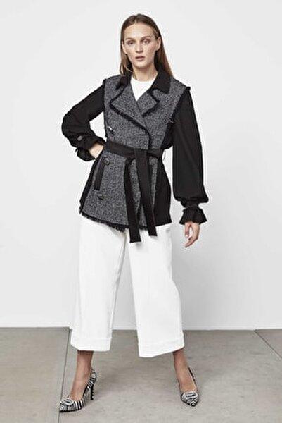 Kadın Siyah Tüvit Mixli Ceket IW6190005188001