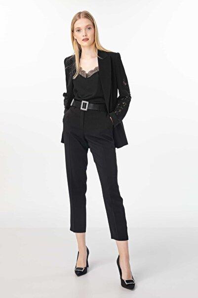 Kadın Siyah Yüksek Bel Pantolon IW6190003133001