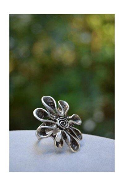 Stoneage Çiçek Figür Kadın Ayarlanabilir Yüzük Big Daisy Model Türk Malı Üretim