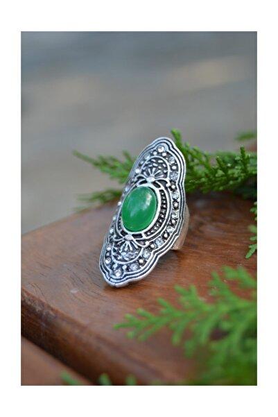 Stoneage Hint Gümüşü Bohem Ayarlanabilir Yüzük Minik Toplu Boho Tarz Yerli Üretim Türk Malı