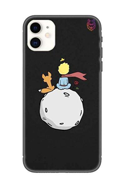Wolf Dizayn Iphone 11 - Siyah Silikon Kılıf - Küçük Prens