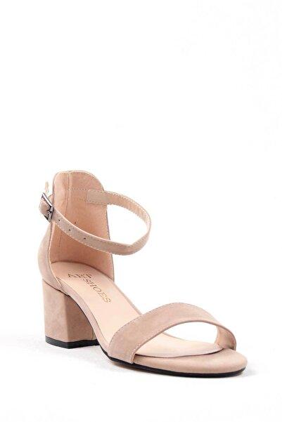 Oioi Vizon Süet Kadın Topuklu Ayakkabı