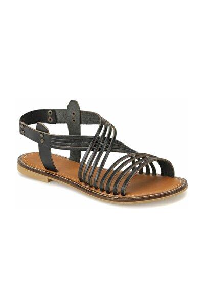 Miss F DS18125 Siyah Kadın Sandalet