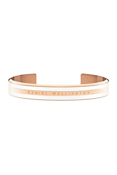 Daniel Wellington Classic Bracelet Satin White Rose Gold Small - Kadın için
