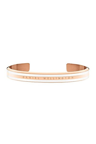 Daniel Wellington Classic Slim Bracelet Rose Gold Satin White Small - Kadın için