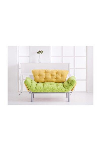 Pafu Nitta Ikili Kanepe - Yeşil Sarı