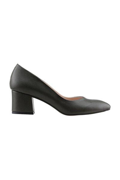 Ayakland 97544-312 5 Cm Topuklu Cilt Bayan Ayakkabı