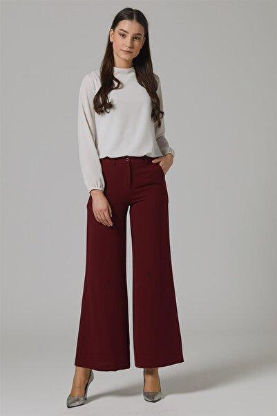 Doque Kadın Pantolon Bordo