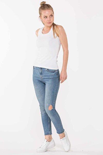 SIMONE Kadın T-Shirt Beyaz