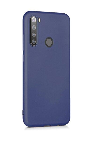 Matte Silicone  Redmi Note 8 Kılıf, Microsonic Lacivert