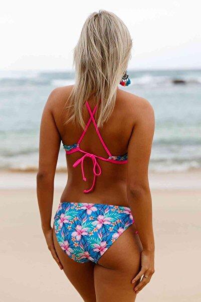 Xanded Çiçekli Renkli Bikini Üstü