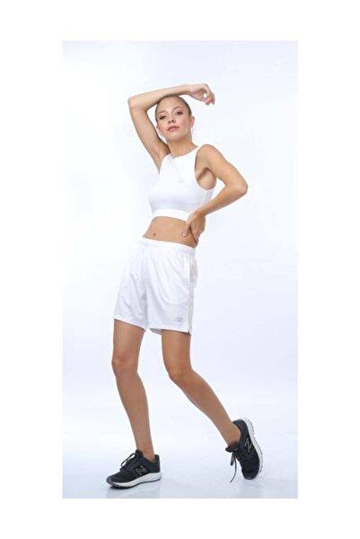 Nb Teamwear Kadın Beyaz Şort Nbtm006-wt