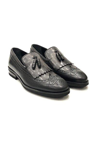TETRİ Erkek Siyah Deri Ayakkabı