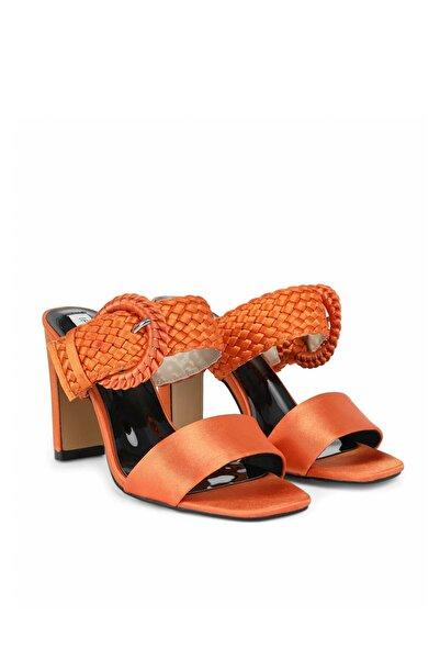 İpekyol Kadın Turuncu Hasır Örme Topuklu Sandalet IS1200031014127