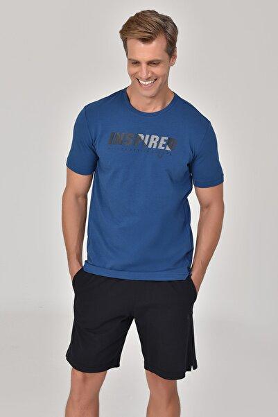 Lacivert Erkek T-Shirt GS-8809