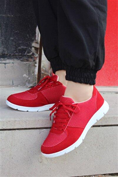 Hepsi Moda File Spor Ayakkabı - Kırmızı