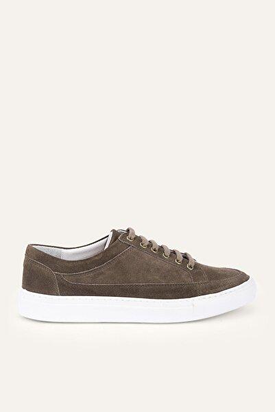 Mudo Erkek Vizon Bağcıklı Deri Sneaker 386224