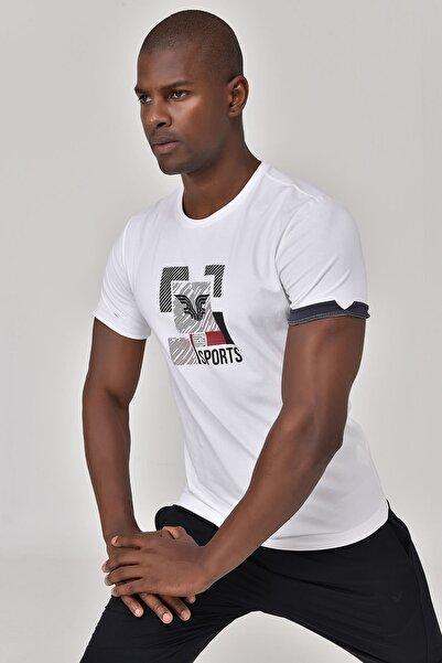 bilcee Beyaz Erkek T-shirt  GS-8807