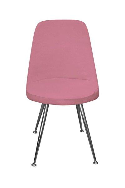 KILIFSAN Fransız Pamuklu Şeker Pembe Retro Sandalye Kılıfı