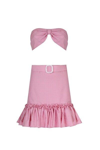 Nur Karaata Pinky Skirt & Top Set Pinkyset1