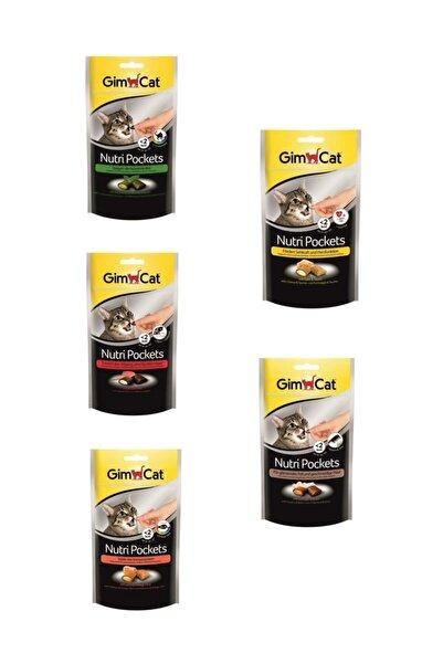 Nutripockets 60 Gr 5'li Set (kedi Otu-multivitamin / Biftek-malt / Somon-omega / Peynir-taurin )