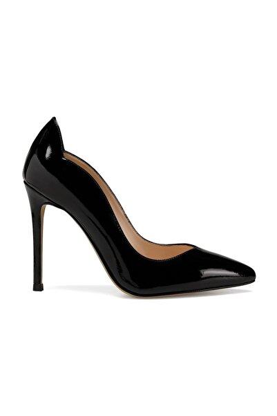 Nine West Hakiki Deri Siyah Kadın Topuklu Ayakkabı