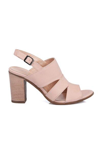 Tergan Deri Pudra Kadın Ayakkabı 64320A67