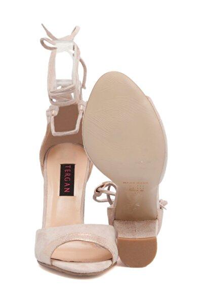 Tergan Deri Pudra Kadın Ayakkabı 64263A47