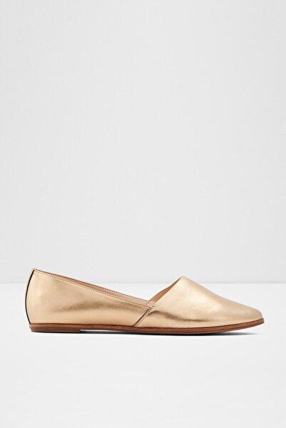 Aldo Hakiki Deri BLANCHETTE - Altın Kadın Düz Ayakkabı