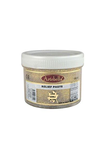Artebella 3355 Rölyef Pasta Klasik Seri Simli Altın