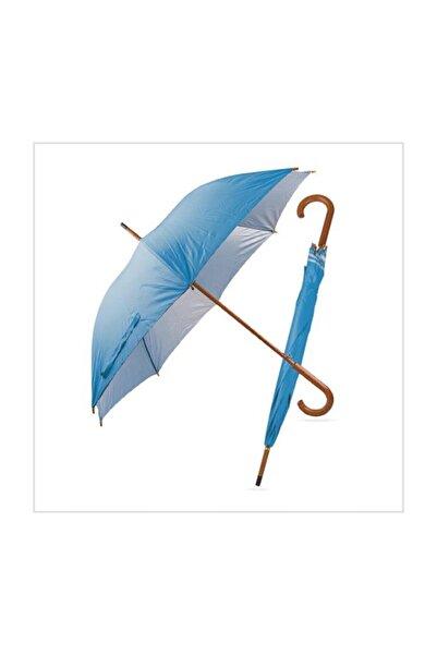 TREND Ahşap Saplı Fiber Glass Kırılmaz Şemsiye (mavi)