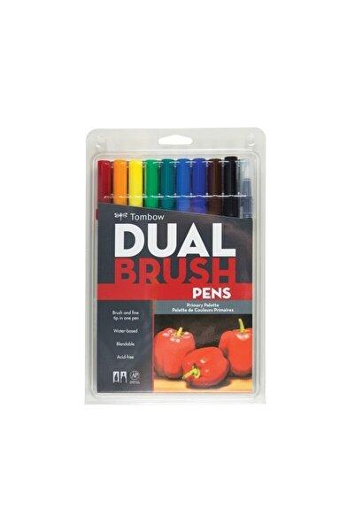 Tombow Dual Brush Pen Fırça Uçlu Keçeli Kalem 10'lu - Ana Renkler