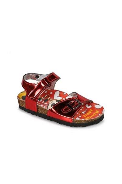 Minnie Mouse Mınnıe Mouse Mantar Tabanlı Çocuk Sandalet