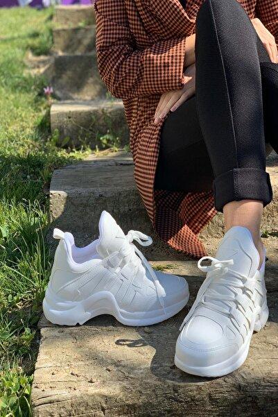 Beyaz Kadın Spor Ayakkabı Y2020