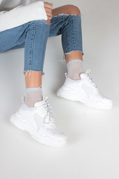 Beyaz Cilt Kadın Spor Ayakkabı Y5623