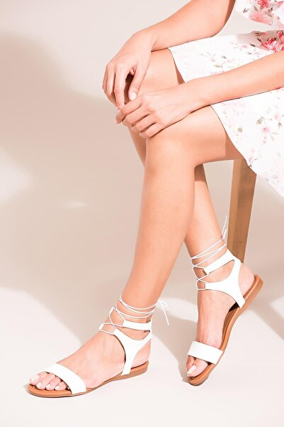 Fox Shoes Beyaz Kadın Sandalet B548397509