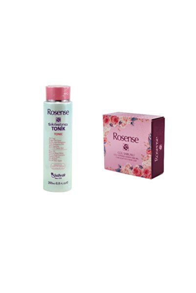 Rosense Sıkılaştırıcı Tonik Ve Gül Yapraklı Bakım Sabunu 2 Li Set 7417941459577