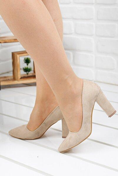 Ayakland Kadın Bej Topuklu Ayakkabı