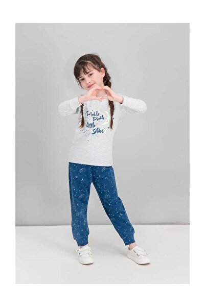 ROLY POLY Little Star Moon Karmelanj Kız Çocuk Karanlıkta Parlayan Pijama