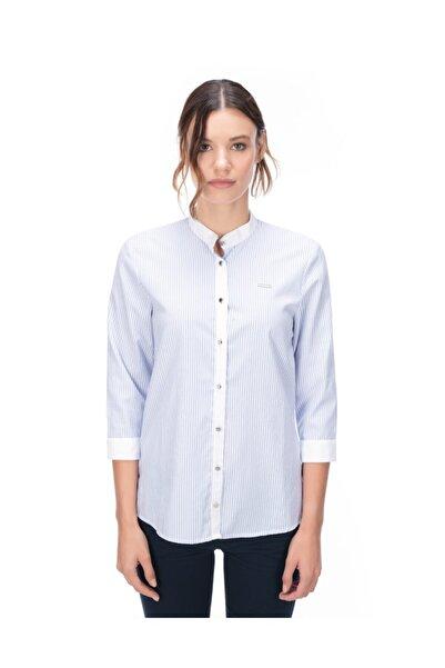 Galvanni Kadın Mavi Gömlek - Cazıas