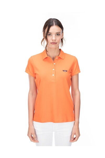 Galvanni Kadın Oranj Polo T-shirt - Nyko