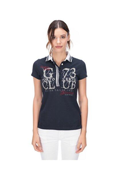 Galvanni Kadın Lacivert Polo T-shirt - Recıfe