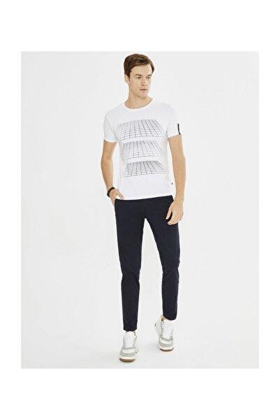 Erkek Beyaz T-shirt - 19YE02501432-02