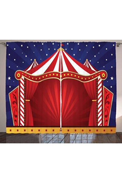 Orange Venue Çocuklar Için Perde Yıldızlar Sirk Çadırı