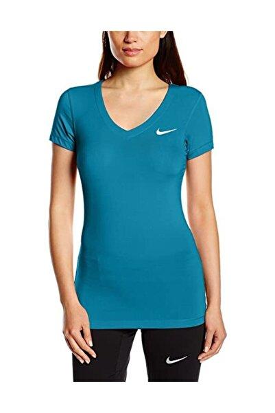 Nike Pro Ss V Neck Kadın Spor T-shirt
